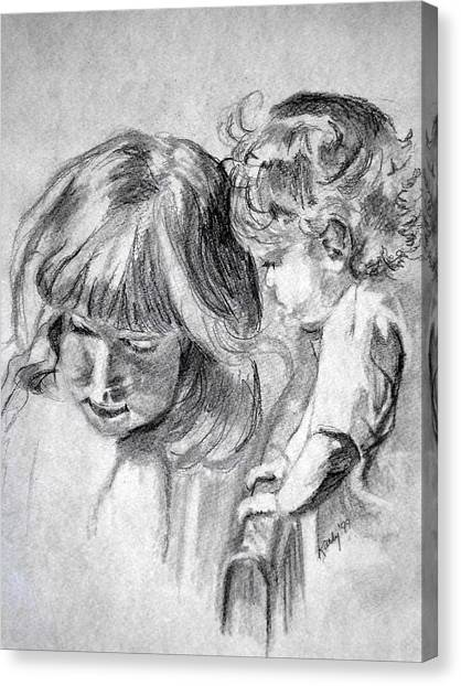 Big Sis Canvas Print by Kathy Etoll-Throckmorton