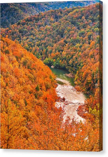 Big South Fork Canvas Print by Charles Fletcher