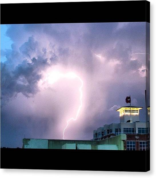 Arkansas Canvas Print - big Strike #littlerock #lightning by Roger Snook