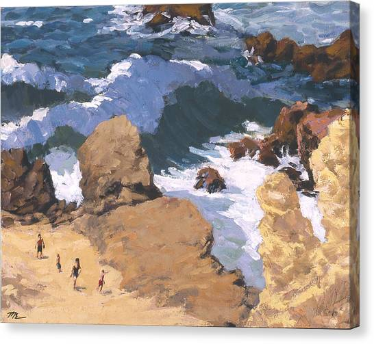 Big Surf At Little Corona Canvas Print