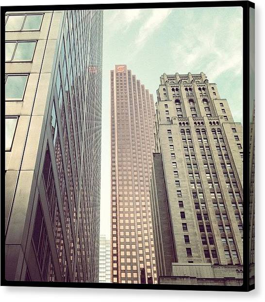 Big Sky Canvas Print - #big #towers #skyscrapers #windows #cool by Frank Shadrack