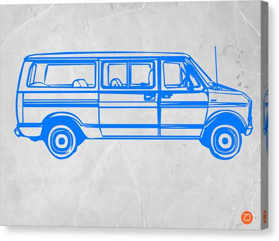 Classic Car Canvas Print - Big Van by Naxart Studio
