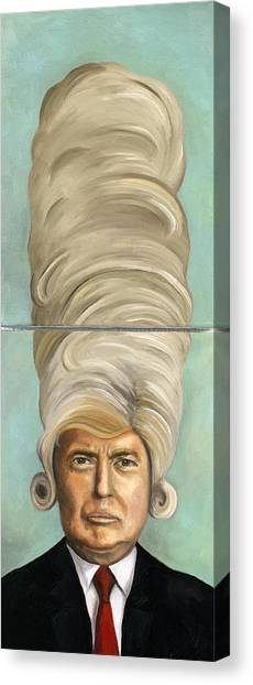 Donald Trump Canvas Print - Big Wig by Leah Saulnier The Painting Maniac
