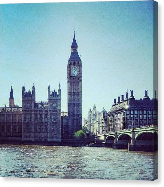 Rivers Canvas Print - #bigben #buildings #westminster by Abdelrahman Alawwad