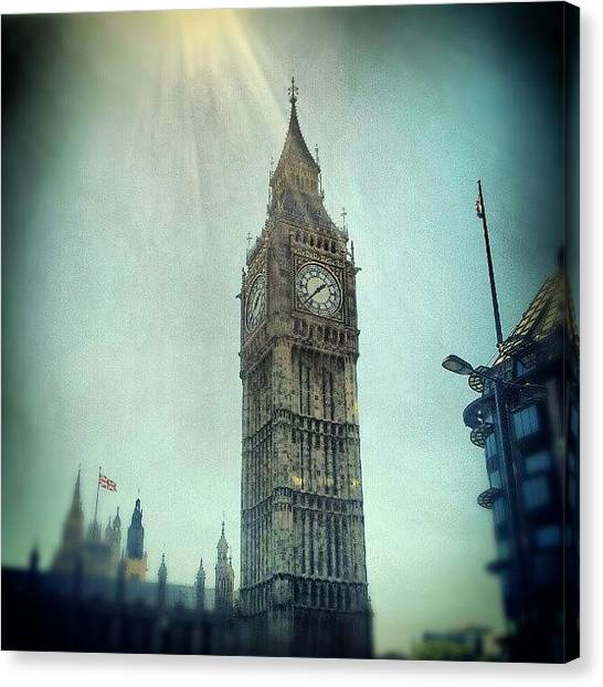 London Canvas Print - #bigben #uk #england #london #londoneye by Abdelrahman Alawwad