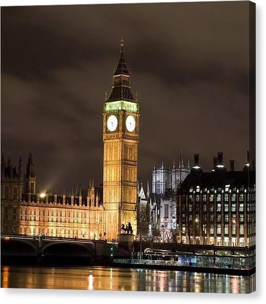 Parliament Canvas Print - #bigben #westminster #london by Londonshadow Londonshadow