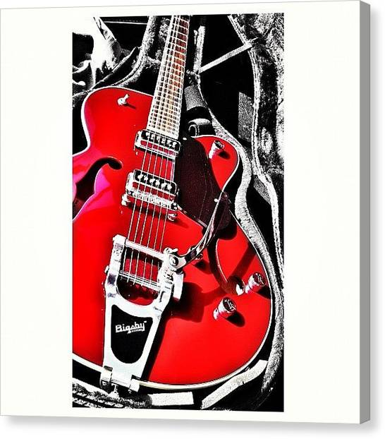 Guitars Canvas Print - Bigsby Guitar by Ale Romiti 🇮🇹📷👣