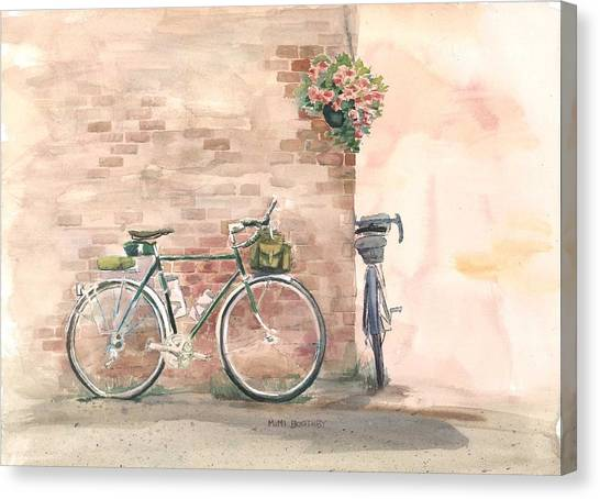 Bike Date Canvas Print