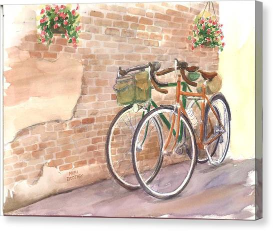 Bike Date Two Canvas Print