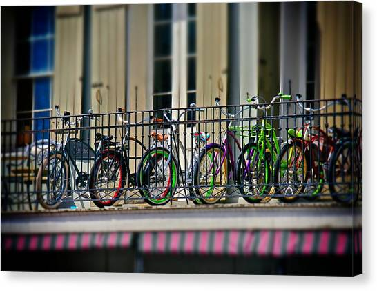 Bikes On Top Canvas Print
