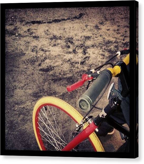 Dirt Bikes Canvas Print - #bikes by Raphael Antonio