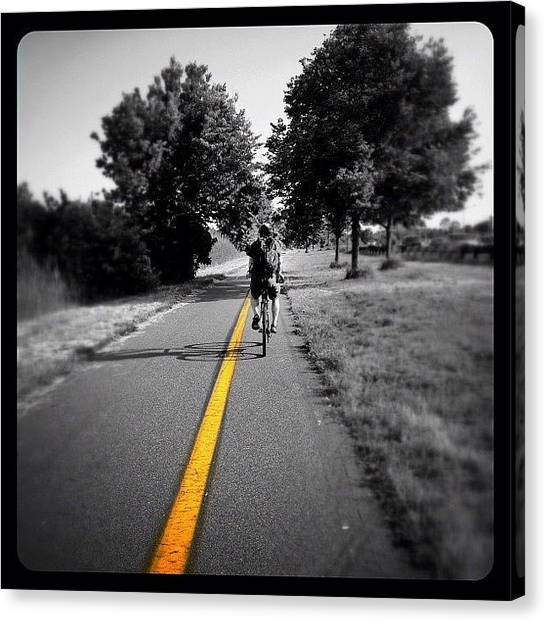Bicycle Canvas Print - Biking Home by Natasha Marco