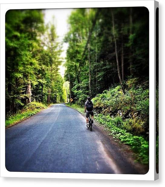 Bicycle Canvas Print - Biking In The Catskills by Natasha Marco
