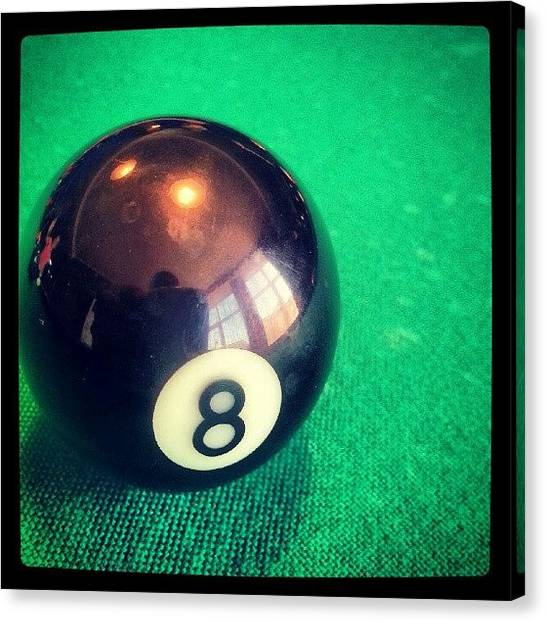 Foxes Canvas Print - #billiards #billiard #8ball #ball by Orange Fox