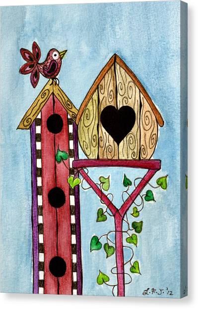Bird House Canvas Print by Lisa Frances Judd
