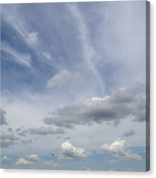 Om Canvas Print - Bird In The Distance. #blue #sky by Artist Mind
