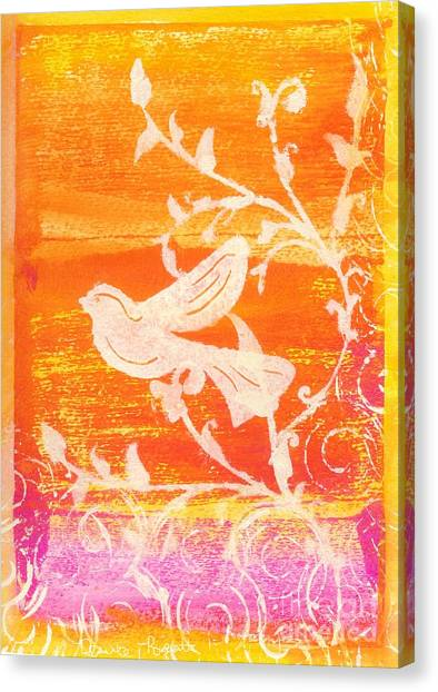 Bird In The Meadow Canvas Print