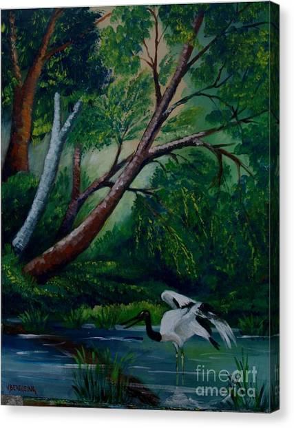 Bird In The Swamp Canvas Print