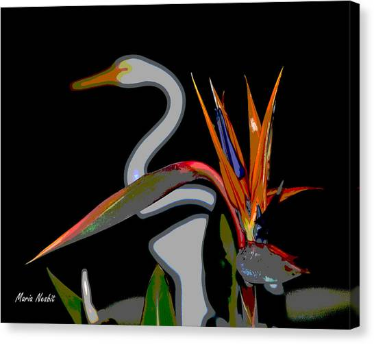 Birds In My Paradise... Canvas Print