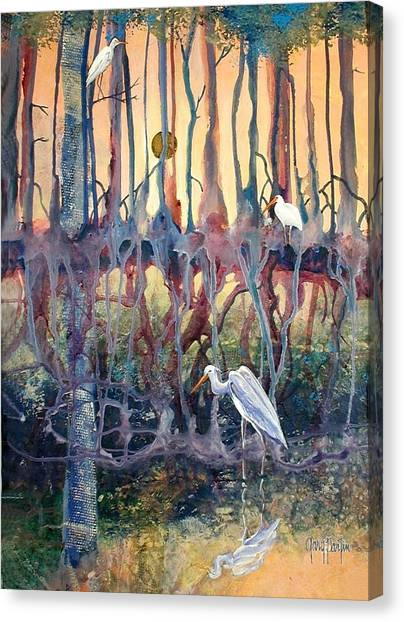 Birds Of The Water Canvas Print
