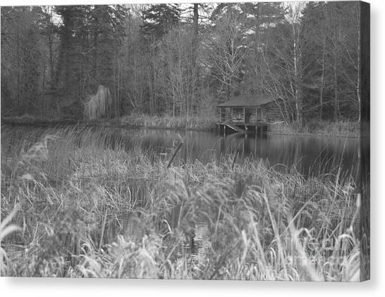 Birr Boathouse Canvas Print by Mike  Connolly