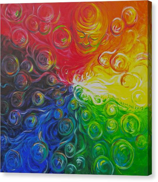 Birth Of Color Canvas Print