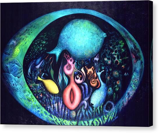 Birth Of Genes Canvas Print
