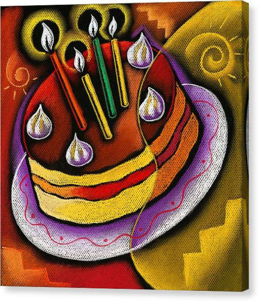 Cakes Canvas Print - Birthday  Cake  by Leon Zernitsky