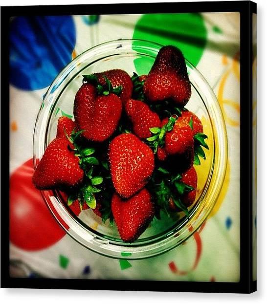 Strawberries Canvas Print - #birthday #celebration by Angela Davis