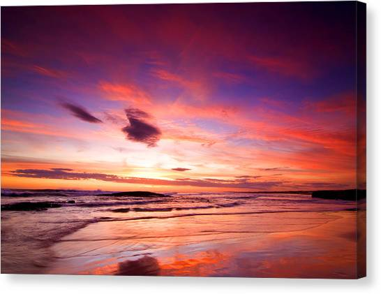 Birubi Point Sunset Canvas Print