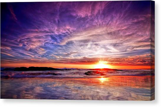 Birubi Point Sunset Redux Canvas Print