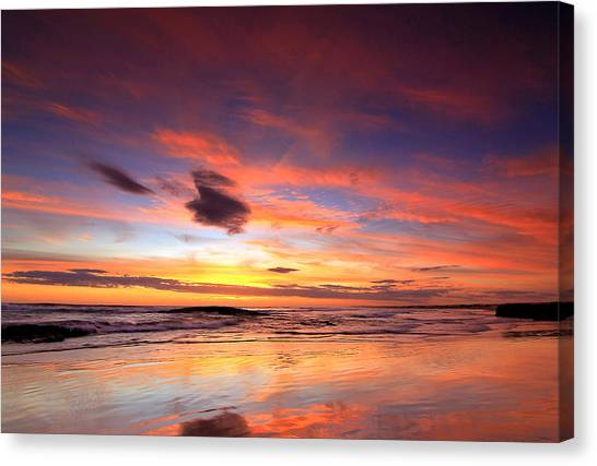 Birubi Sunset Canvas Print
