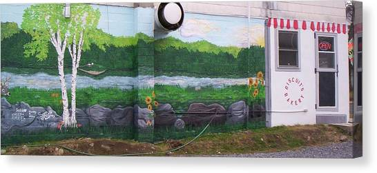 Biscuit's Bakery Mural Canvas Print by SHER Millis