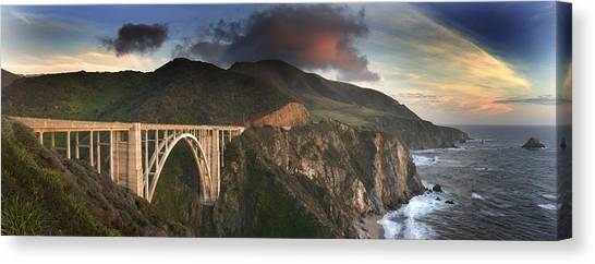 Bixby Bridge Sunset Canvas Print