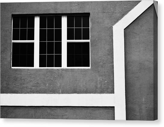 Black And White Side Of Building  Canvas Print by Anya Brewley schultheiss