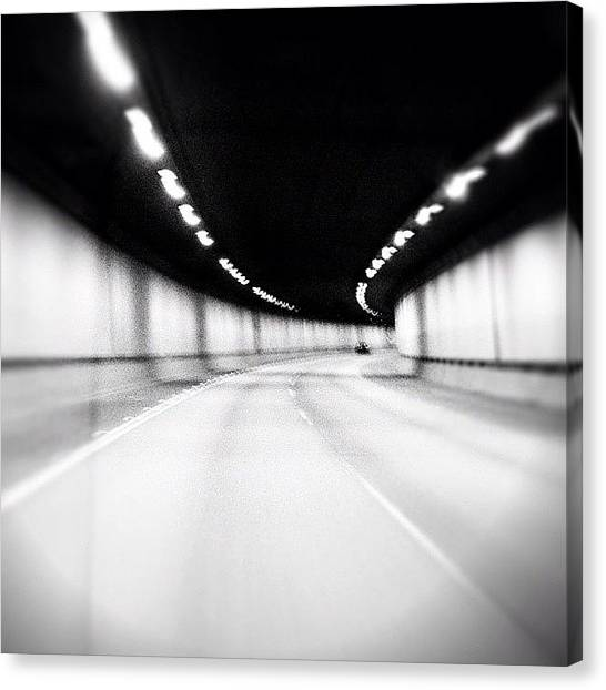 Interstates Canvas Print - Black And White Tunnel by Chris Fabregas