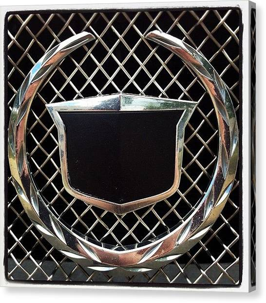 Grills Canvas Print - Black Cadillac by Marc S