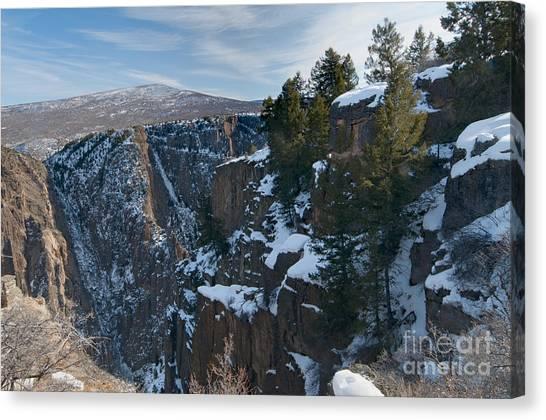 Black Canyon Of The Gunnison Canvas Print by David Waldrop
