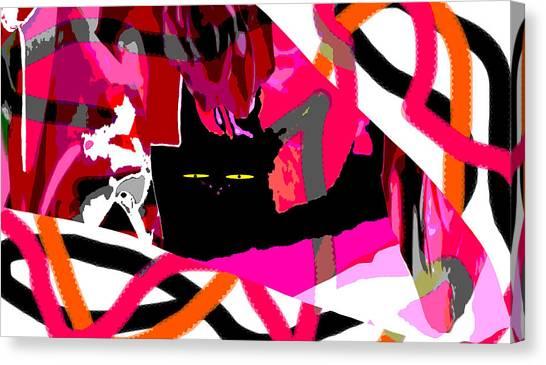 Black Cat Canvas Print by Elisabet Bondesson
