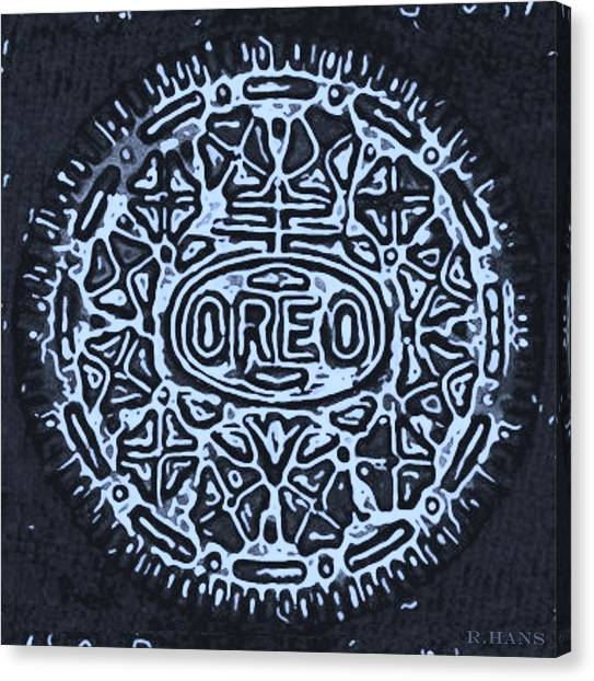 Nabisco Canvas Print - Black Cyan Oreo by Rob Hans