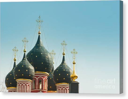 Black Domes Canvas Print by Boris Suntsov