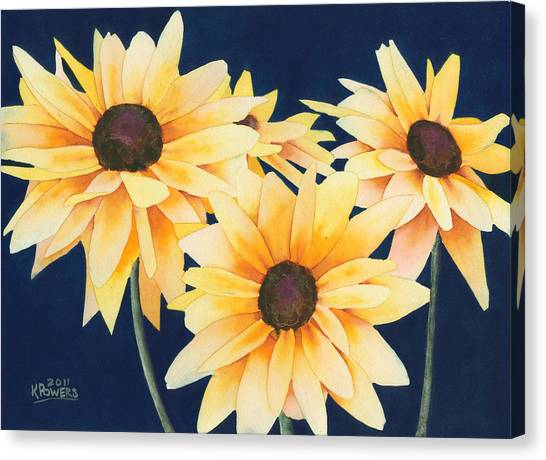 Black Eyed Susans 2 Canvas Print
