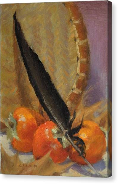 Black Feather Canvas Print