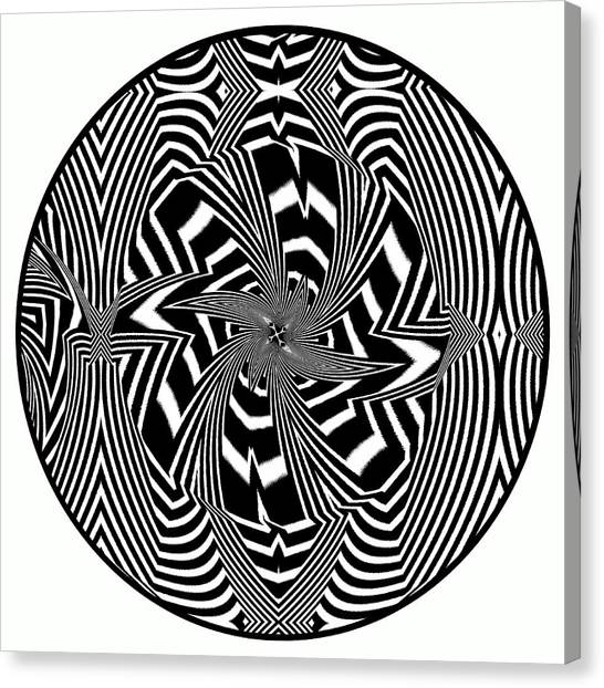 Canvas Print featuring the digital art Black Flower by Visual Artist Frank Bonilla