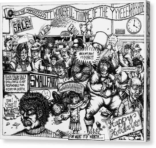 Black Friday Canvas Print