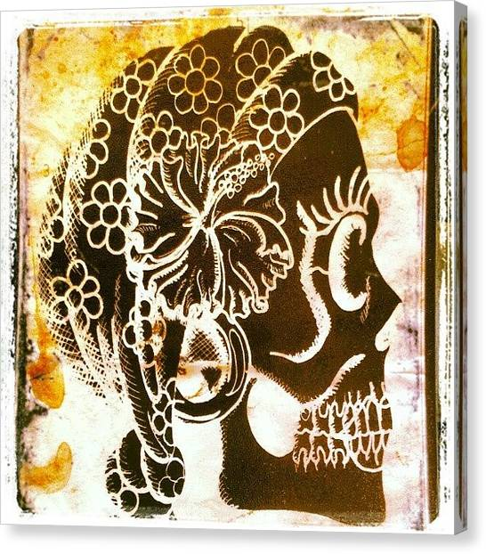 Skulls Canvas Print - Black Gypsy by Shayne  Bohner