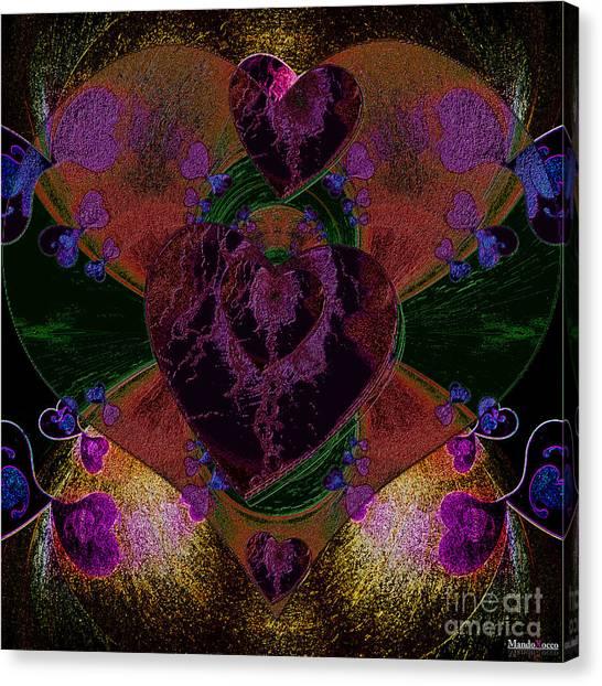 Black Heart Color Canvas Print