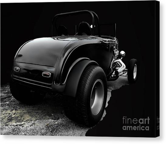Black Jalopy Canvas Print