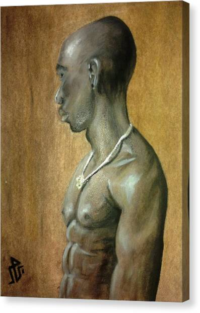 Black Man Canvas Print by Baraa Absi