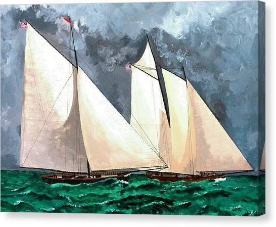 Black Maria Vs. Amercia Canvas Print